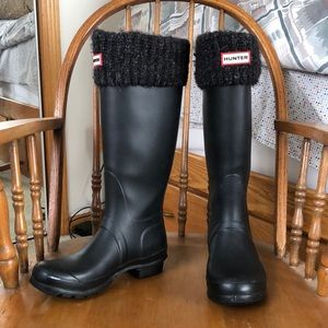 Hunter Women Original Tall Rain Boots Matte Black